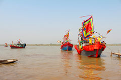 Performed traditional boat on the river Stock Image