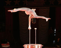 Performer. Circus performer doing aerial ballet and/or gymnastic type movements Royalty Free Stock Photos