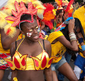 A performer in the 2009 Notting Hill Carnival Royalty Free Stock Photo