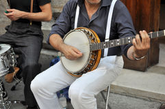 Performer with Banjo Stock Image