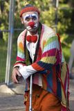 Performer clown at Moscow city day Stock Photography