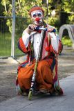 Performer clown at Moscow city day stock image