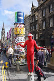 Performer in Edinburgh festival Stock Image