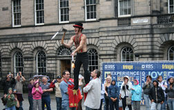 Performer at Edinburgh Festival Royalty Free Stock Photos