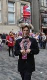 Performer at Edinburgh Fringe Festival 2015 Stock Photography