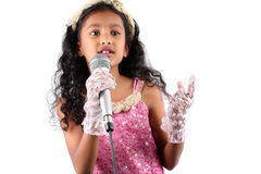 Performer Girl Royalty Free Stock Photography