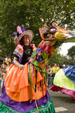 Performer in a horse costume at Carnival Royalty Free Stock Photography