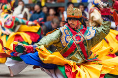 Performer at Jakar Dzong traditional culture festival in Bhutan Royalty Free Stock Photography