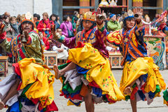 Performer at Jakar Dzong traditional culture festival in Bumthan Stock Image