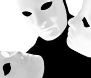 Performer mime with mask Stock Photos