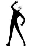 Performer mime with mask gesturing Stock Images