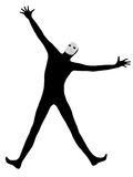 Performer mime with mask happy saluting Stock Photos
