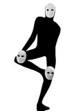 Performer mime with mask Stock Image