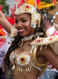 A performer in the Notting Hill Carnival Royalty Free Stock Photography