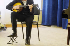 Performer plays a mandoline Stock Photography