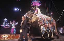 Performer Riding on Elephant, Ringling Brothers & Barnum & Bailey Circus Royalty Free Stock Photography
