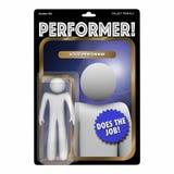 Performer Skilled Hard Worker Action Figure. 3d Illustration Royalty Free Stock Image