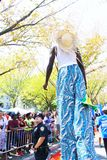 Performer On Stilts At West Indian Day Parade Stock Images