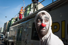 Performer taking part in Milan Clown Festival 2014 Royalty Free Stock Photography