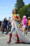 Performer at Vancouver Pride Parade Royalty Free Stock Images