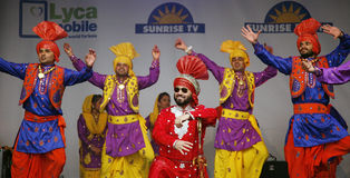 Performers at 2012 Visakhi Festival Royalty Free Stock Photography
