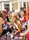 Performers of the Batala Mersey carnival band. Stock Photography