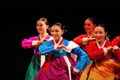 Performers of Busan Korean traditional dance stock photography