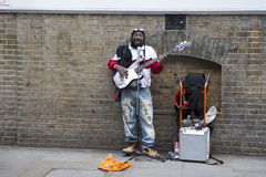 Performers busking at Brick lane on Sunday Stock Photography
