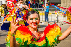 Performers with colorful and elaborate costumes Royalty Free Stock Photo