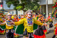 Performers with colorful and elaborate costumes Royalty Free Stock Photos