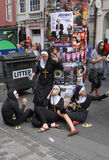 Performers at Edinburgh Festival Royalty Free Stock Photos