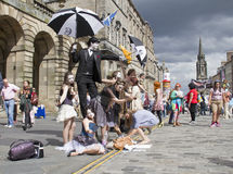 Performers at Edinburgh Festival Royalty Free Stock Photos