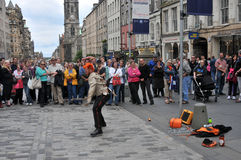 Performers at Edinburgh Festival Stock Photos