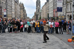 Performers at Edinburgh Festival Royalty Free Stock Images