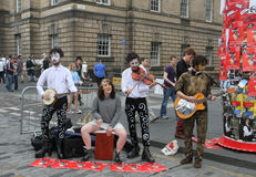 Performers during Edinburgh Fringe Festival 2012 Stock Photography