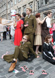 Performers during Edinburgh Fringe Festival Stock Image