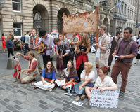Performers during Edinburgh Fringe Festival Stock Photography