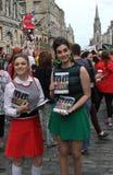 Performers at Edinburgh Fringe Festival 2015 Royalty Free Stock Photo