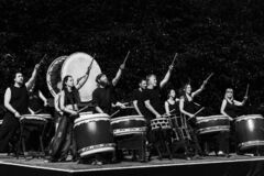 Free Performers Group Playing Ceremonial Japanese Drums. Wish List For 2021 Concept. Royalty Free Stock Photos - 208285328