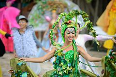 Performers on Lantau Island Stock Image