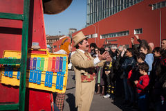 Performers at Milan Clown Festival 2014 Royalty Free Stock Images