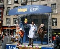 Performers on stage Edinburgh Stock Photos