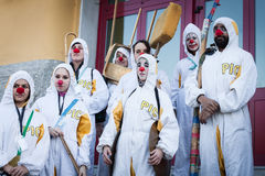 Performers taking part in Milan Clown Festival 2014 Royalty Free Stock Photography