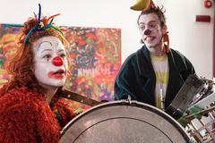 Performers taking part in Milan Clown Festival 2014 Royalty Free Stock Image