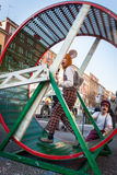 Performers taking part in Milan Clown Festival Stock Photography