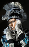 Performers in  Venetian  costume Royalty Free Stock Photos