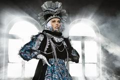 Performers in  Venetian  costume Stock Photos