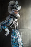 Performers in  Venetian  costume Stock Images