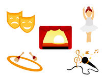 Performing Arts Icon Royalty Free Stock Image