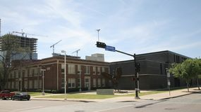 Performing Arts School, Dallas Texas. Booker T. Washington High School for the Performing and Visual Arts is a public secondary school located in the Arts Royalty Free Stock Photo
